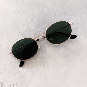 Urban Outfitters Accessories - Black Oval Metal Sunglasses